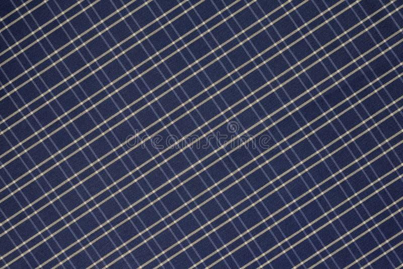 Achtergrond van Blauwe en Witte Plaiddoek royalty-vrije stock afbeelding