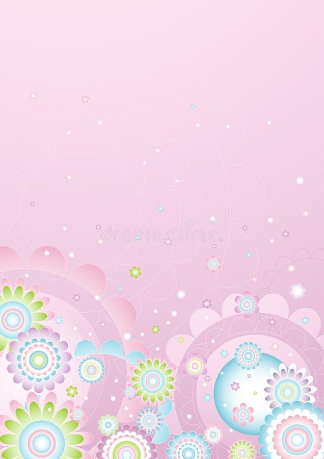 Achtergrond van bloemen, vector   royalty-vrije illustratie