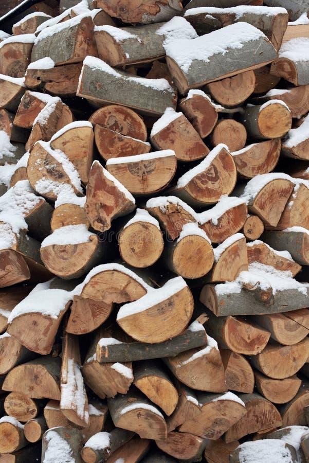 Achtergrond van brandhoutstapel royalty-vrije stock fotografie