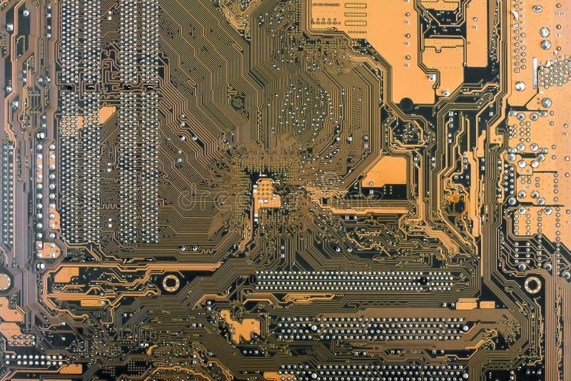 Achtergrond van computermotherboard voor het ontwerp stock fotografie