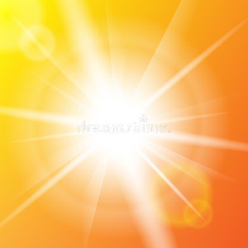 Achtergrond van de aard de zonnige abstracte zomer met zon vector illustratie