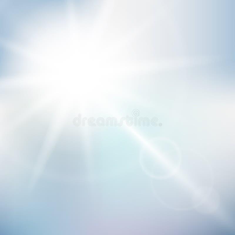 Achtergrond van de aard de zonnige hemel stock illustratie