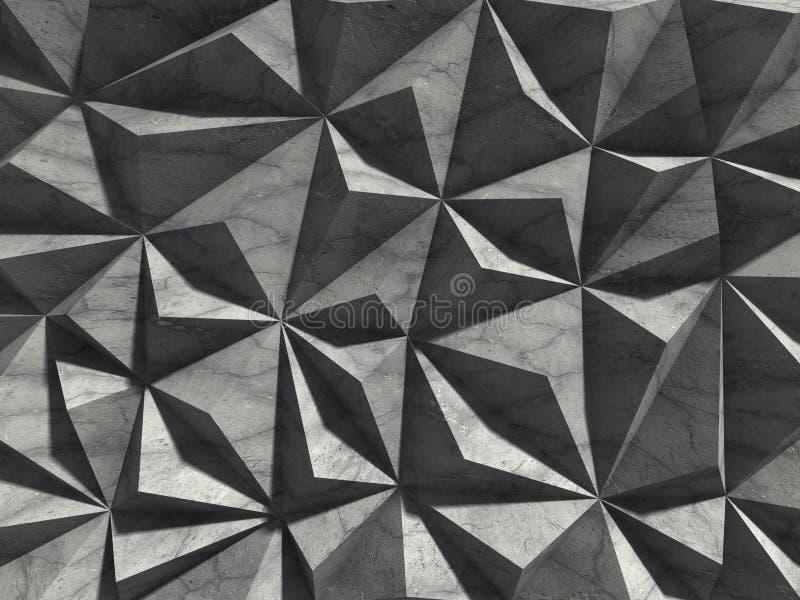 Achtergrond van de architectuur de concrete muur Chaotische ontwerpconstructi stock illustratie