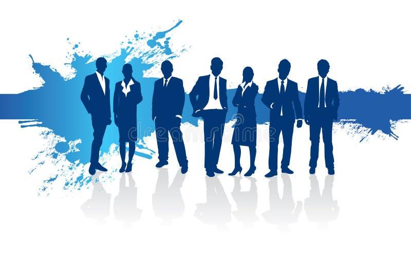 Achtergrond van de bedrijfsmensen de blauwe plons royalty-vrije illustratie