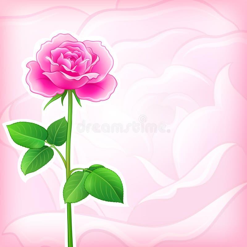 Achtergrond van de bloem - nam toe stock illustratie