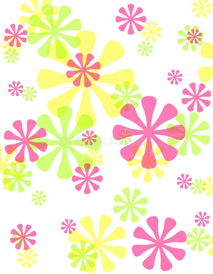 Achtergrond van de Bloemen van de lente de Ondoorzichtige Retro royalty-vrije illustratie