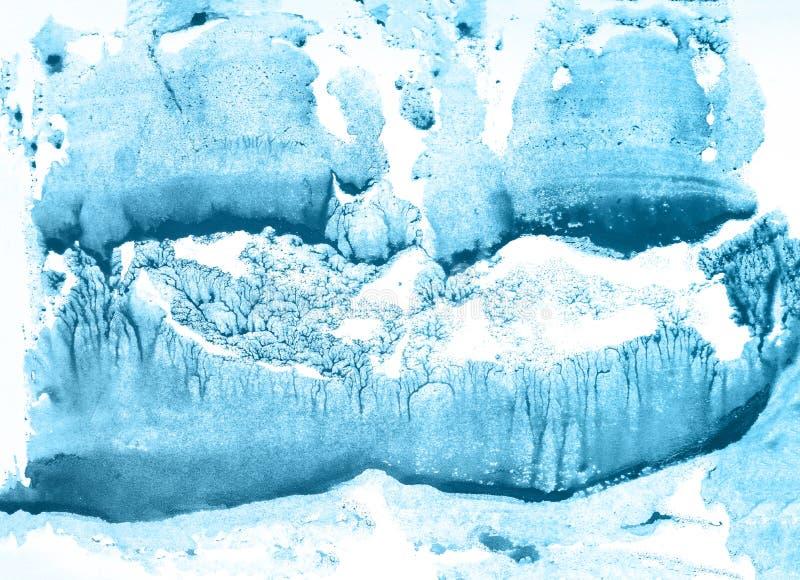 Achtergrond van de Bluel de abstracte waterverf Mooie textuur stock fotografie