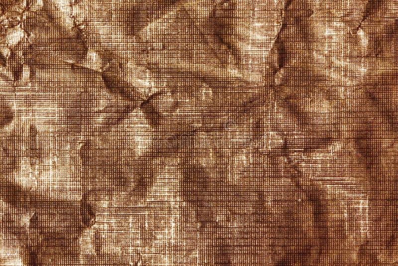 Achtergrond van de brons de glanzende folie royalty-vrije illustratie