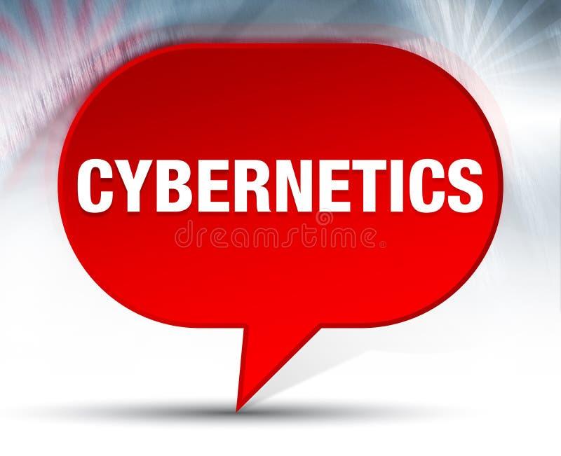 Achtergrond van de cybernetica de Rode Bel vector illustratie