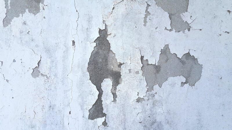 Achtergrond van de de muurtextuur van het Grunge de witte en grijze cement stock foto's