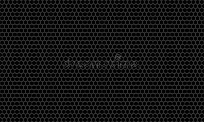 Achtergrond van de de Textuur Metaalmuur van de honingraat de Vlakke Koolstof stock foto's