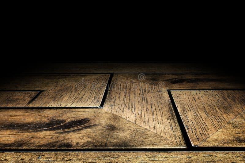 Achtergrond van de de vloertextuur van de zigzagplank de houten voor vertoning uw prik royalty-vrije stock afbeelding