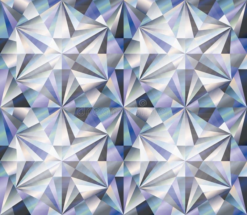 Achtergrond van de diamant de naadloze ruit, vector vector illustratie