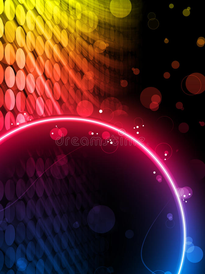 Achtergrond van de Doos van de Cirkel van de disco de Abstracte vector illustratie