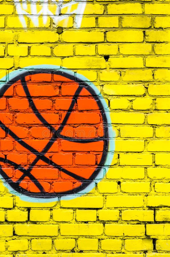 Achtergrond van de gele textuur van het bakstenen muurpatroon royalty-vrije stock fotografie