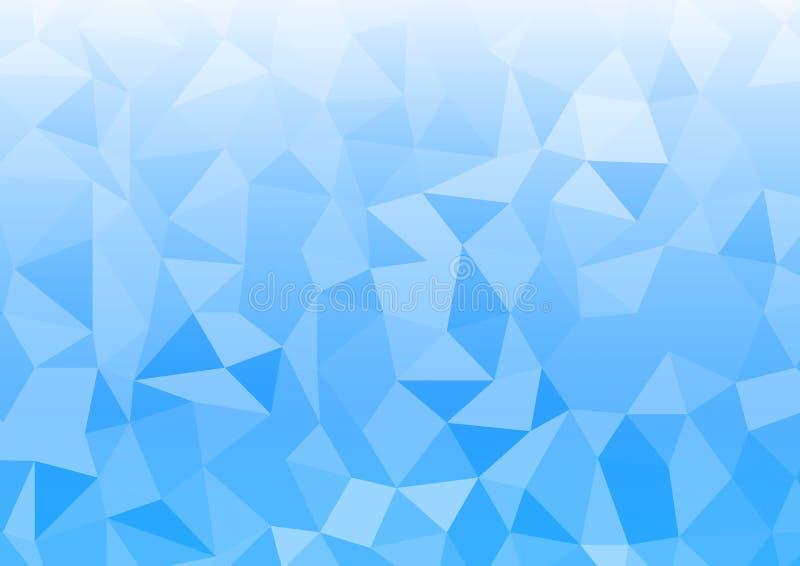 Achtergrond van de Geomatrix de blauwe lichte abstracte rechthoek vector illustratie