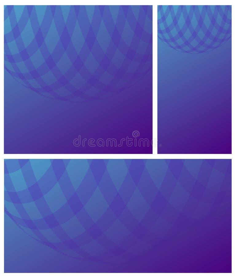 Achtergrond van de gradiënt de blauwe violette cel stock illustratie
