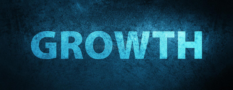 Achtergrond van de de groei de speciale blauwe banner royalty-vrije illustratie