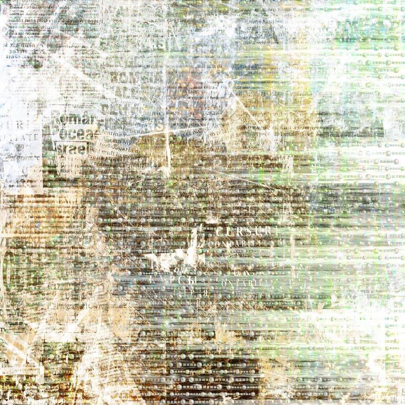 Achtergrond van de Grunge de abstracte krant stock illustratie