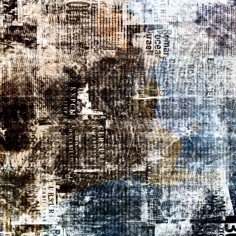 Achtergrond van de Grunge de abstracte krant royalty-vrije illustratie