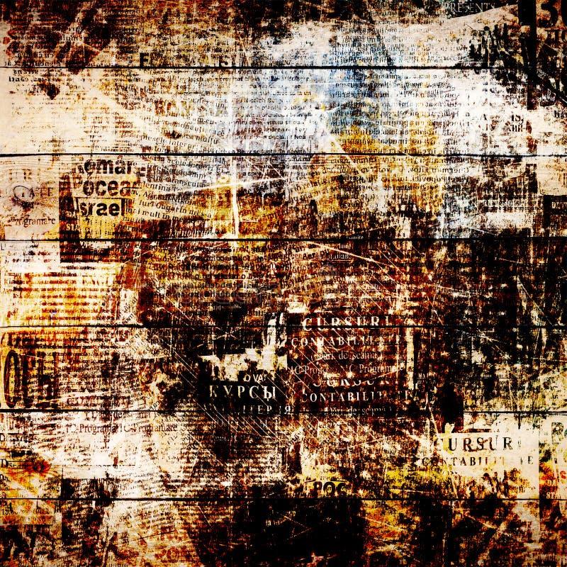Achtergrond van de Grunge de abstracte krant voor ontwerp royalty-vrije illustratie