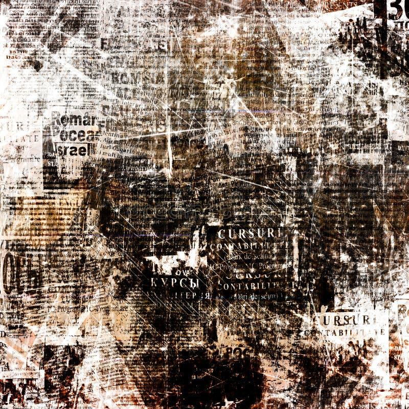 Achtergrond van de Grunge de abstracte krant voor ontwerp vector illustratie