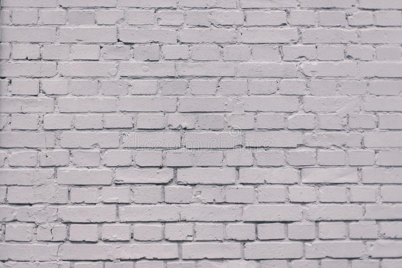Achtergrond van de Grunge de industriële grijze geschilderde bakstenen muur royalty-vrije stock fotografie