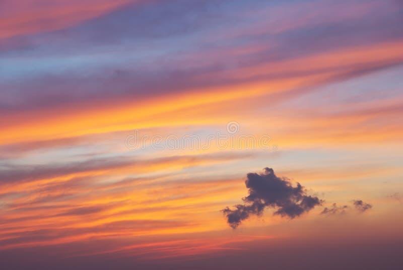 Achtergrond van de hemel op zonsondergang royalty-vrije stock foto's