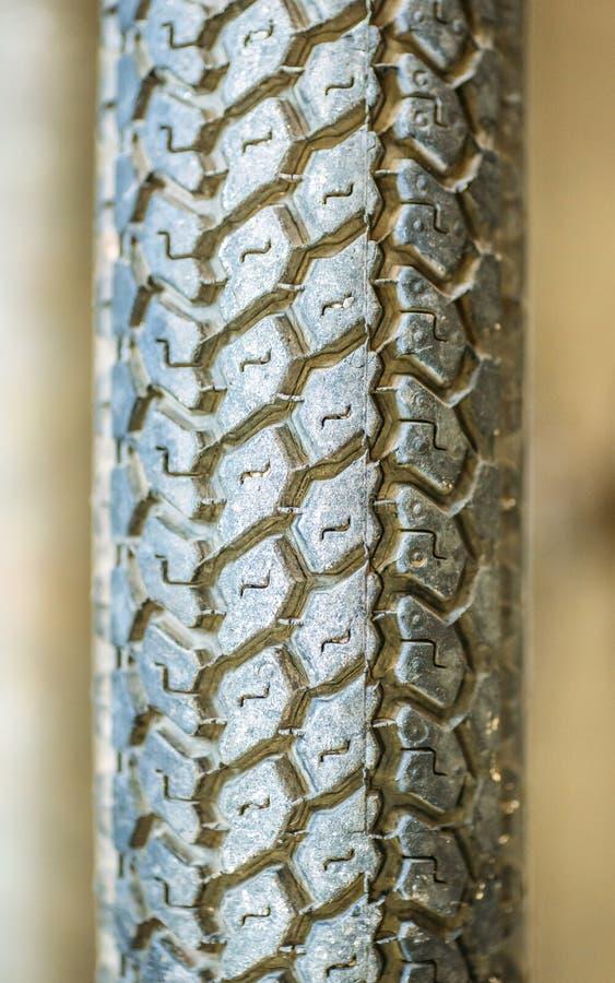 Achtergrond van de het close-uptextuur van de fietsband de macro stock foto
