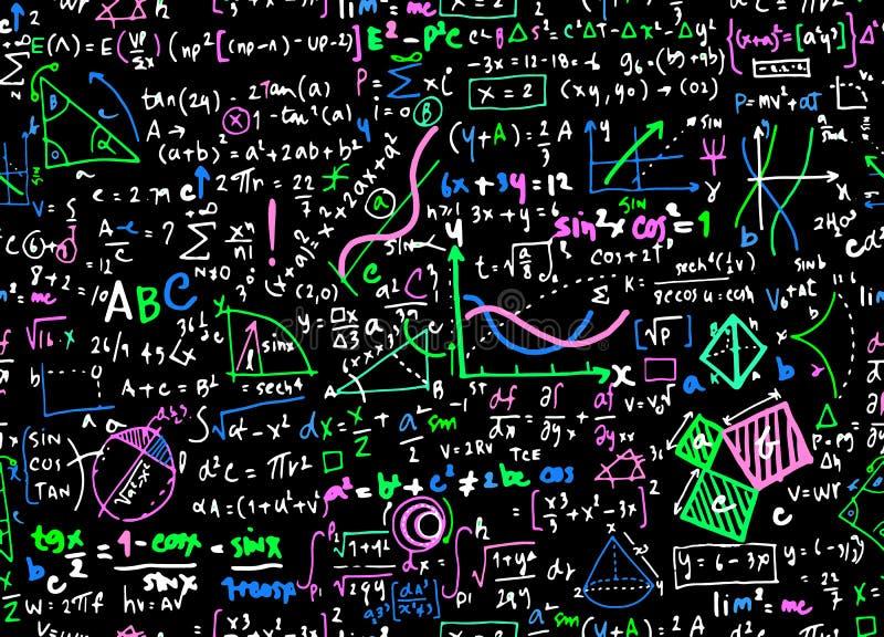 Achtergrond van de het onderwijscirkel van de wiskunde de lineaire wiskunde met geometr royalty-vrije illustratie