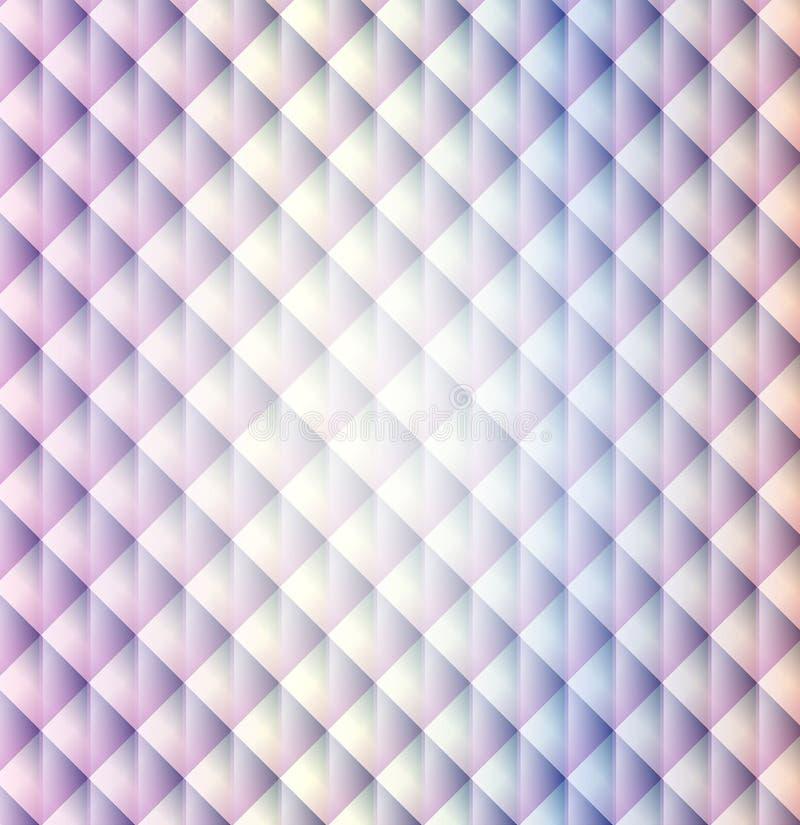 Achtergrond van de het patroonruit van de regenboog de geometrische vorm royalty-vrije illustratie
