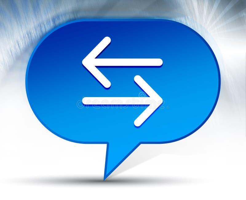 Achtergrond van de het pictogram de blauwe bel van de overdrachtpijl royalty-vrije illustratie