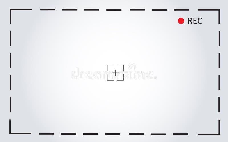 Achtergrond van de het scherm de vectorillustratie van de cameraopname stock illustratie