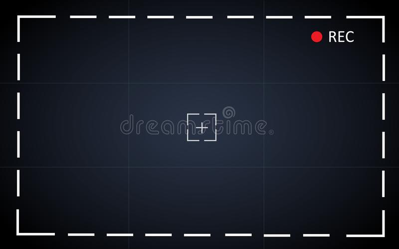Achtergrond van de het scherm de vectorillustratie van de cameraopname royalty-vrije illustratie
