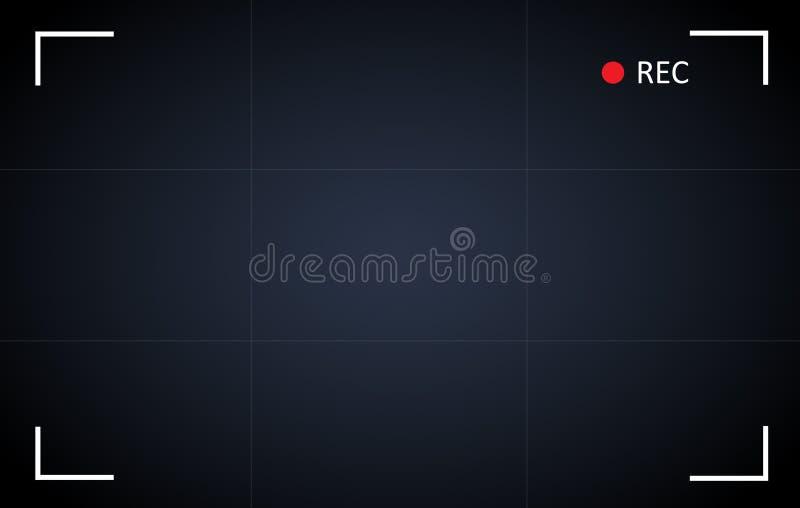 Achtergrond van de het scherm de vectorillustratie van de cameraopname vector illustratie