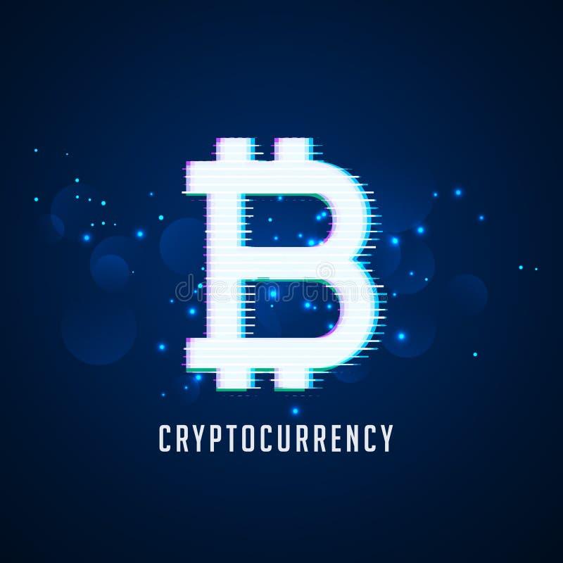 Achtergrond van de het symbooltechnologie van Cryptocurrency de digitale bitcoins stock illustratie