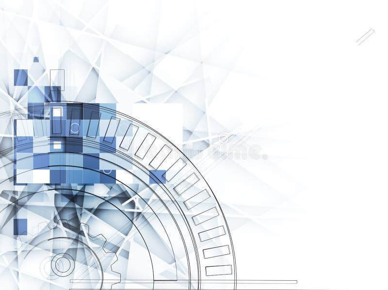 Achtergrond van de ijs de abstracte technologie met lijnentextuur van voor royalty-vrije illustratie