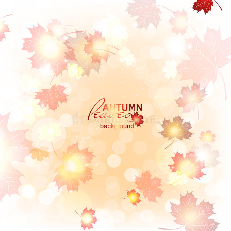 Achtergrond van de illustratie de mooie herfst royalty-vrije illustratie