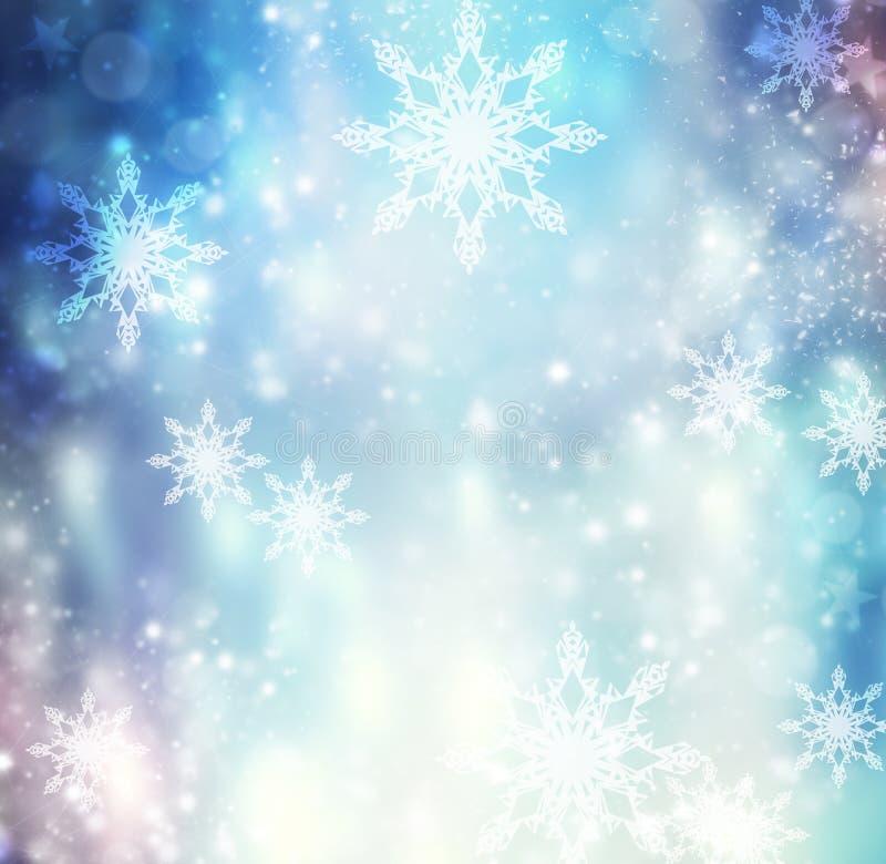 Achtergrond van de Kerstmis de blauwe illustratie van de de wintervakantie vector illustratie