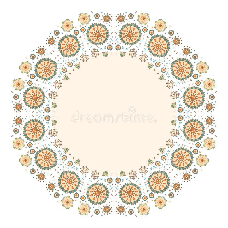 Achtergrond van de kleuren de decoratieve bloem met plaats voor tekst stock illustratie