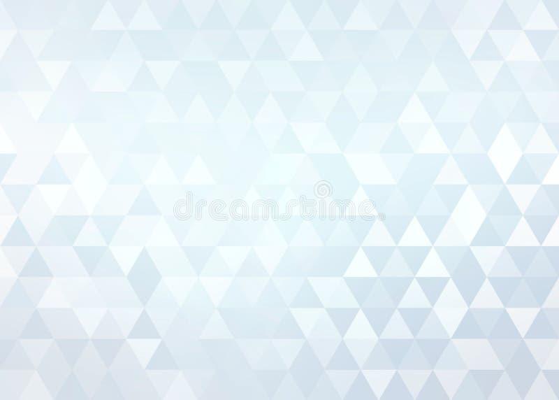 Achtergrond van de kristallen de lichtblauwe schittering Glanzend geometrisch abstract patroon royalty-vrije illustratie