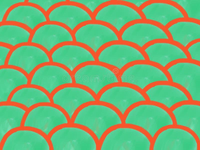 Achtergrond van de de krommewaterverf van de zacht-kleuren de uitstekende pastelkleur abstracte met gekleurde schaduwen van oranj royalty-vrije illustratie