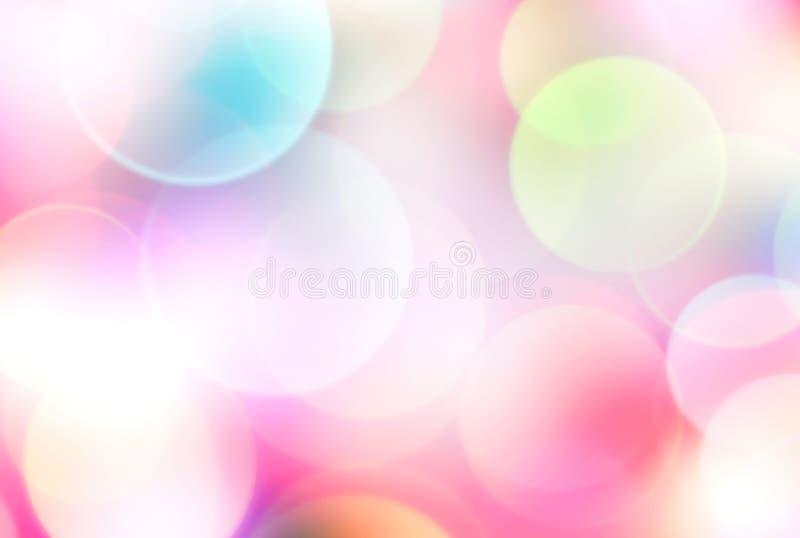Achtergrond van de de lente de de zomer vage regenboog vector illustratie