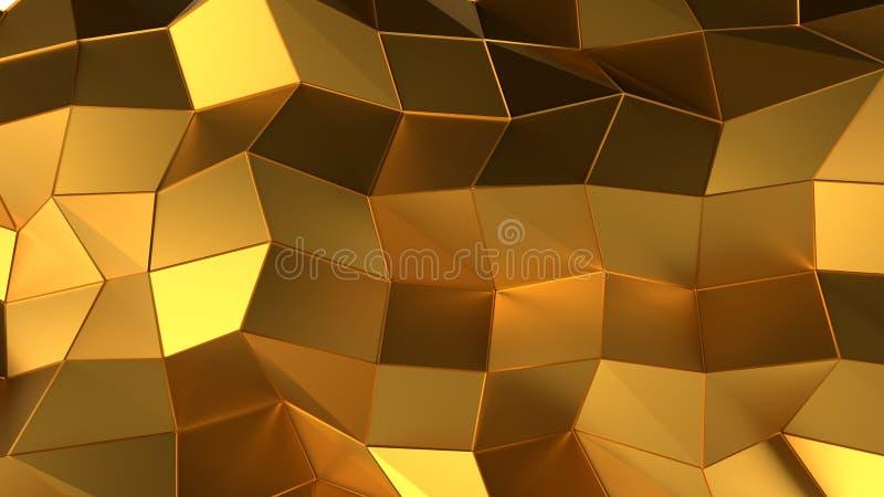 Achtergrond van de luxe de gouden abstracte driehoek stock illustratie