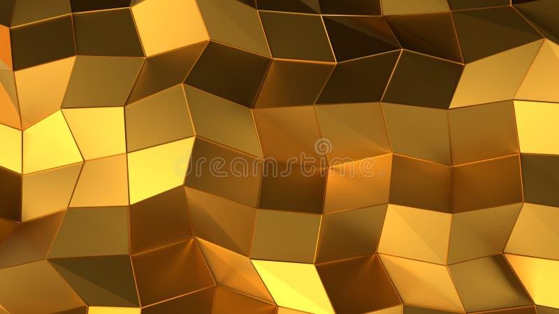 Achtergrond van de luxe de gouden abstracte driehoek stock foto