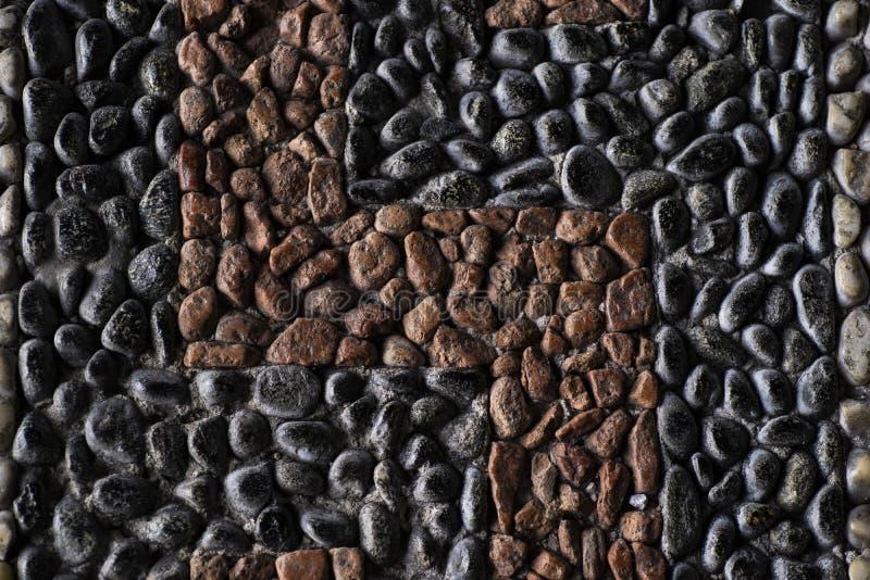 Achtergrond van de mariene kleine kleurrijke stenen De achtergrond van de vakantie royalty-vrije stock afbeelding