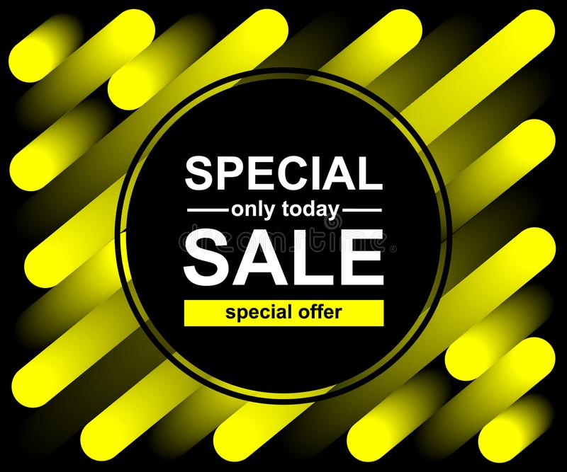 Achtergrond van de mengsel de gele lijn Abstract in patroon voor afficheontwerp Speciale Verkoop Slechts vandaag aanbieding royalty-vrije illustratie
