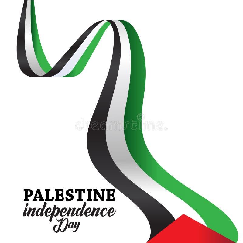 Achtergrond van de de onafhankelijkheidsdag van Palestina de Gelukkige stock illustratie