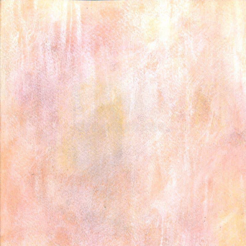 Achtergrond van de pastelkleur de roze gele waterverf vector illustratie