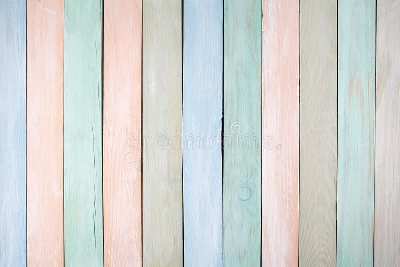 Achtergrond van de pastelkleuren de houten muur Vlak leg royalty-vrije stock afbeelding